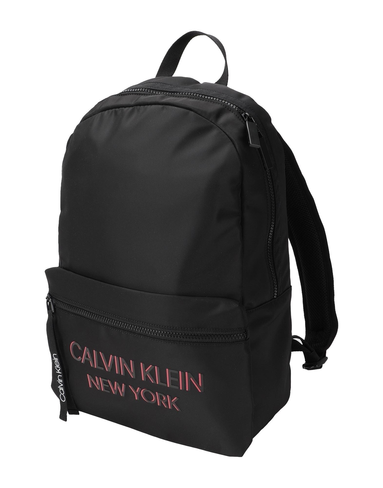 CALVIN KLEIN カルバン クライン メンズ バックパック campus bp ny ブラック - コーラル