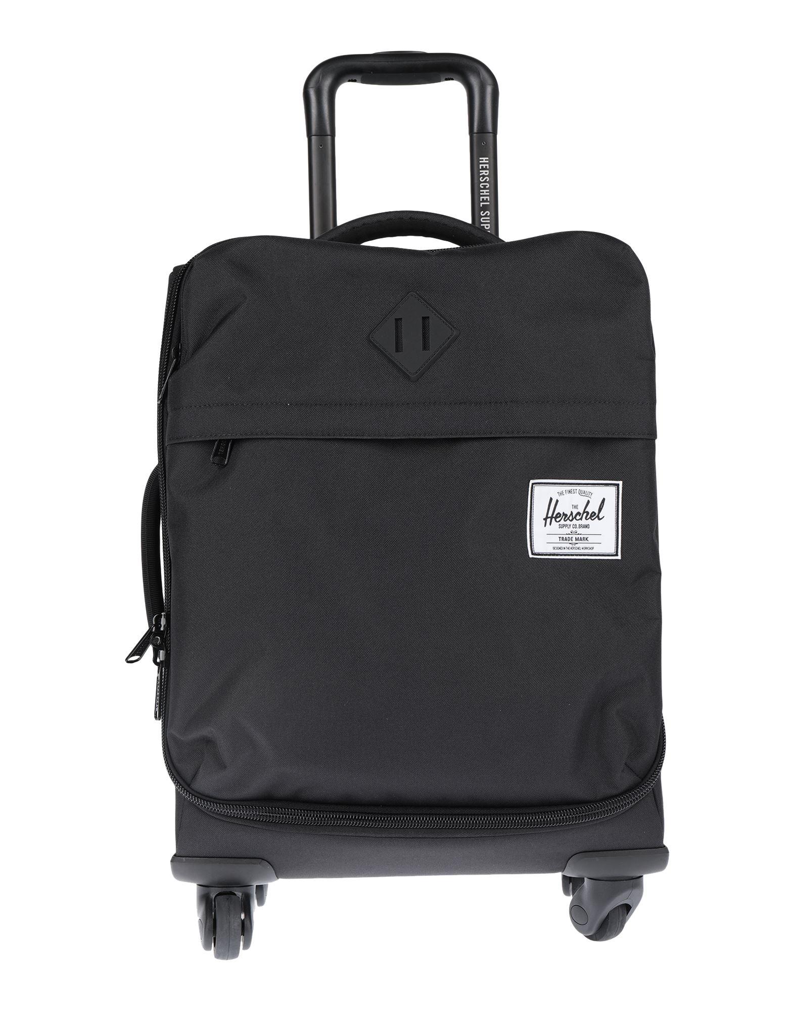 《セール開催中》HERSCHEL SUPPLY CO. Unisex キャスター付きバッグ ブラック ポリエステル 100%