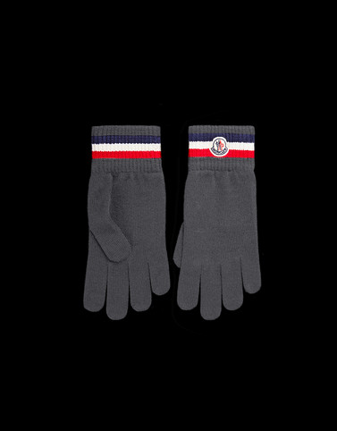 GLOVES Dark grey Scarves & Gloves Man