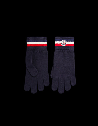 GLOVES Dark blue Category Gloves Man