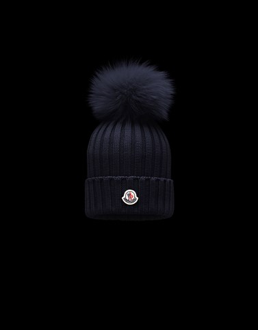 POMPOM BEANIE Dark blue Category Hats Woman