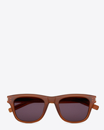 SAINT LAURENT Sunglasses E Classic 2 Sunglasses in Brown Acetate with Grey Lenses f