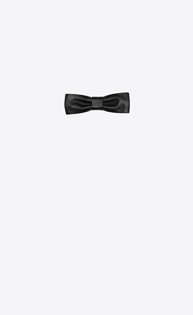 SAINT LAURENT Bow Ties Man New Yves Bow Tie in Black Leather a_V4