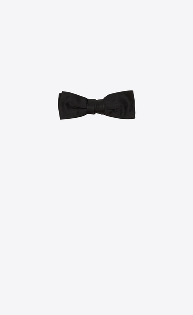 SAINT LAURENT Bow Ties Man yves bow tie in black silk a_V4