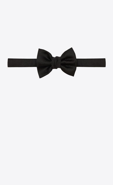 SAINT LAURENT Bow Ties Man paris bow tie in black silk b_V4
