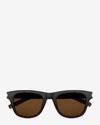 SAINT LAURENT Sunglasses E Classic 2 Sunglasses in Dark Havana Acetate with Brown Lenses f