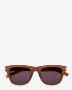 SAINT LAURENT Sunglasses E Classic 2 Sunglasses in Brown Acetate with Grey Lenses f