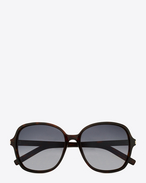 SAINT LAURENT Sunglasses D Classic 8 Sunglasses in Dark Havana Acetate with Grey Gradient Lenses f