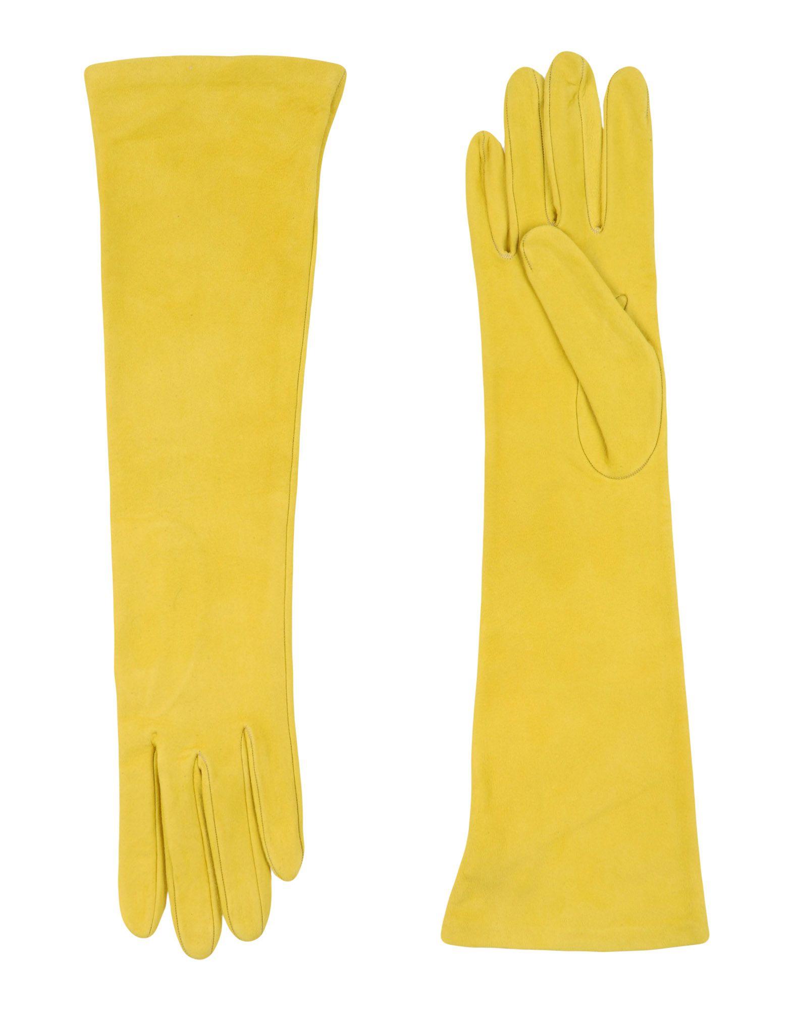 DSQUARED2 Damen Handschuhe Farbe Gelb Größe 2 jetztbilligerkaufen