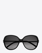 SAINT LAURENT Sunglasses D Classic 23 sunglasses in matte black acetate with brown lenses f