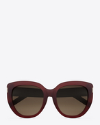 SAINT LAURENT Sunglasses D Saint Laurent 16 sunglasses in dark red acetate and brown shaded lenses f