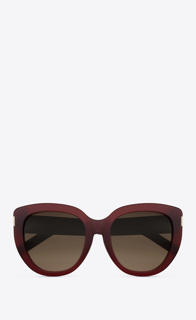 SAINT LAURENT Sunglasses D Saint Laurent 16 sunglasses in dark red acetate and brown shaded lenses a_V4