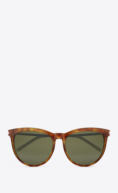 SAINT LAURENT Sunglasses D Classic 24 sunglasses IN LIGHT HAVANA ACETATE AND ROSE GOLD METAL WITH GREEN LENSES a_V4