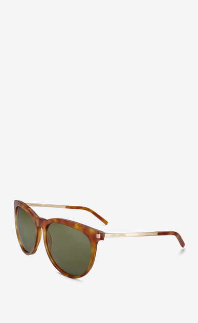 SAINT LAURENT Sunglasses D Classic 24 sunglasses IN LIGHT HAVANA ACETATE AND ROSE GOLD METAL WITH GREEN LENSES b_V4