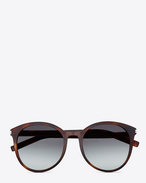 SAINT LAURENT Sunglasses D CLASSIC 6 SUNGLASSES IN light brown ACETATE WITH BROWN GRADIENT LENSES f