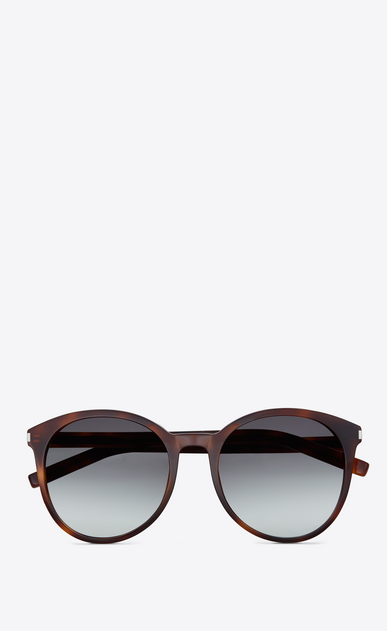 SAINT LAURENT Sunglasses D CLASSIC 6 SUNGLASSES IN light brown ACETATE WITH BROWN GRADIENT LENSES a_V4