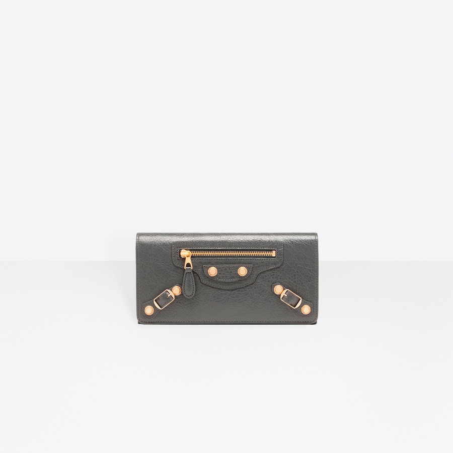 BALENCIAGA Billetera Giant Oro Monedero Giant D f