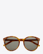 SAINT LAURENT Sunglasses D CLASSIC 6 SUNGLASSES IN havana ACETATE WITH grey green GRADIENT LENSES f