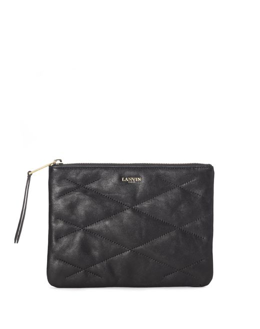 lanvin quilted lambskin cosmetics pouch women