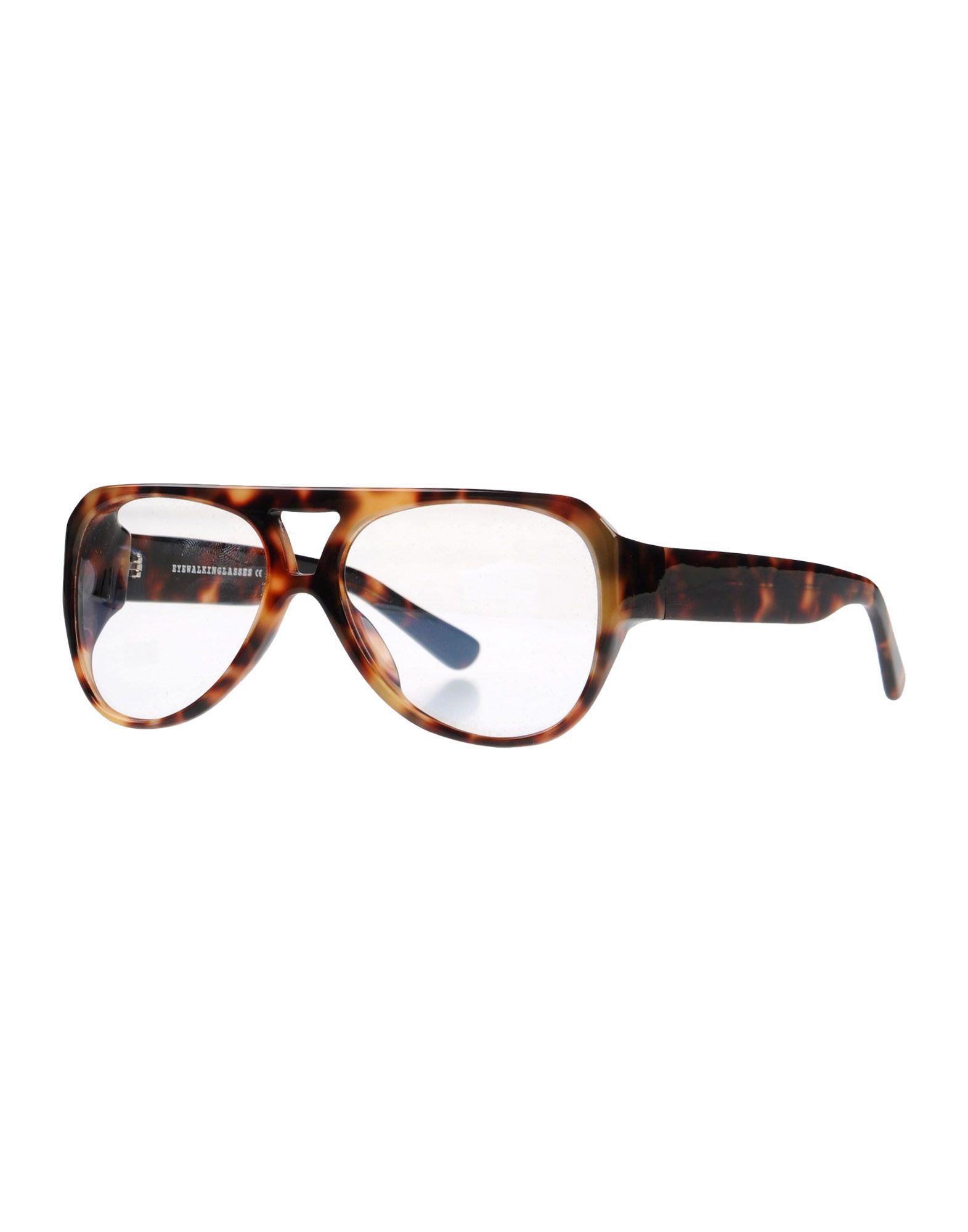 EYEWALKINGLASSES Herren Brille Farbe Dunkelbraun Größe 1