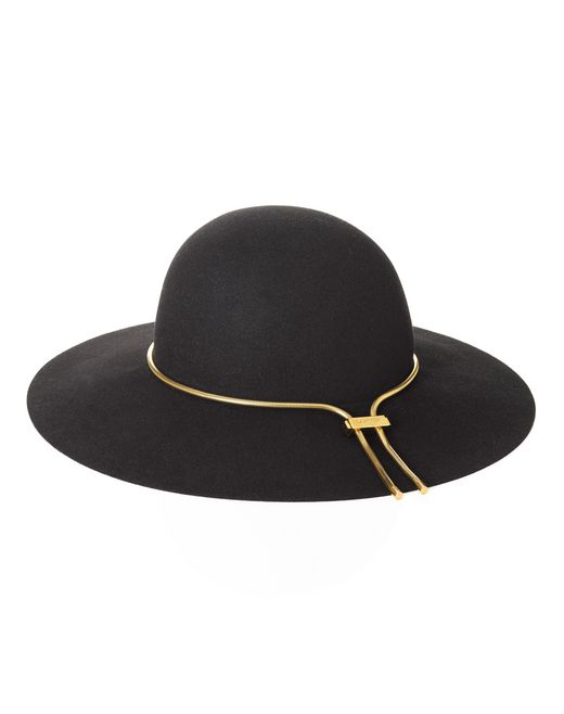 lanvin wide-brimmed felt hat women