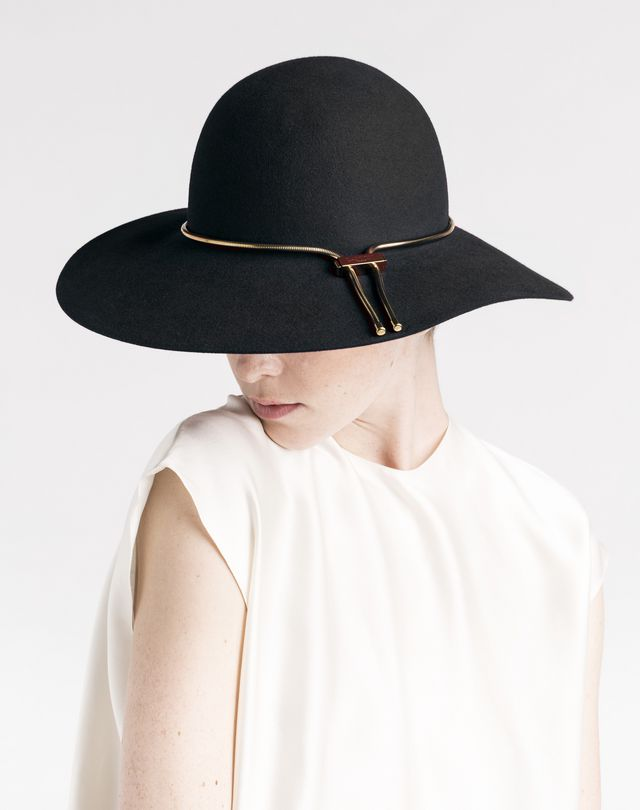LANVIN Wide-brimmed felt hat Hat D r