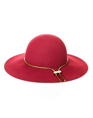 LANVIN Wide-brimmed felt hat Hat D f