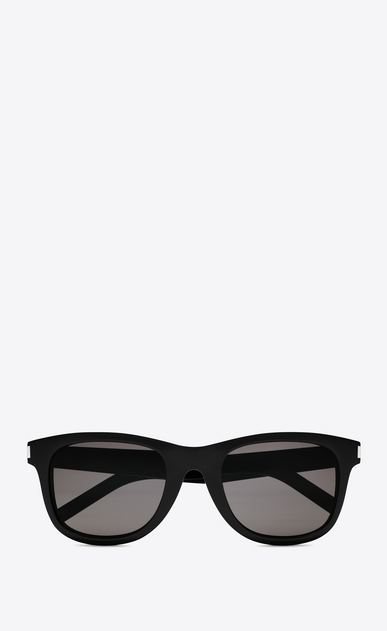 SAINT LAURENT CLASSIC E classic 51 sunglasses in shiny black acetate with smoke lenses a_V4