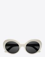 SAINT LAURENT Sunglasses E Lunettes de soleil NEW WAVE 98 CALIFORNIA à monture en acétate ivoire brillant et verres fumés f