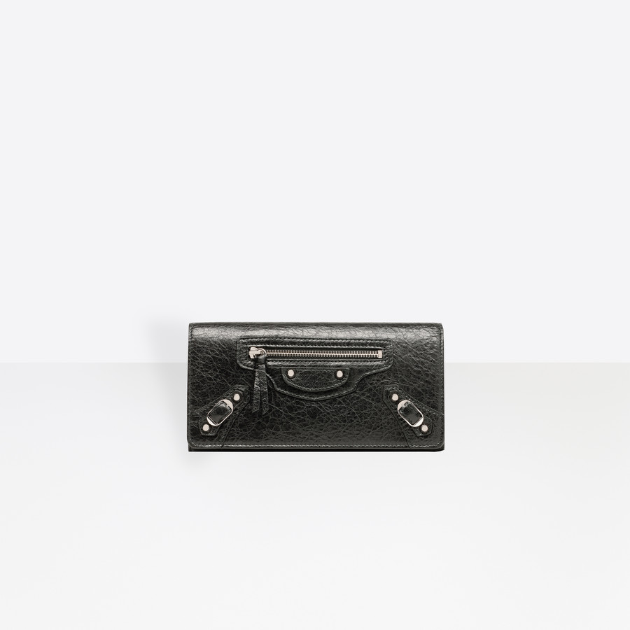 BALENCIAGA Classic Silver Money Classic Money Wallet D f