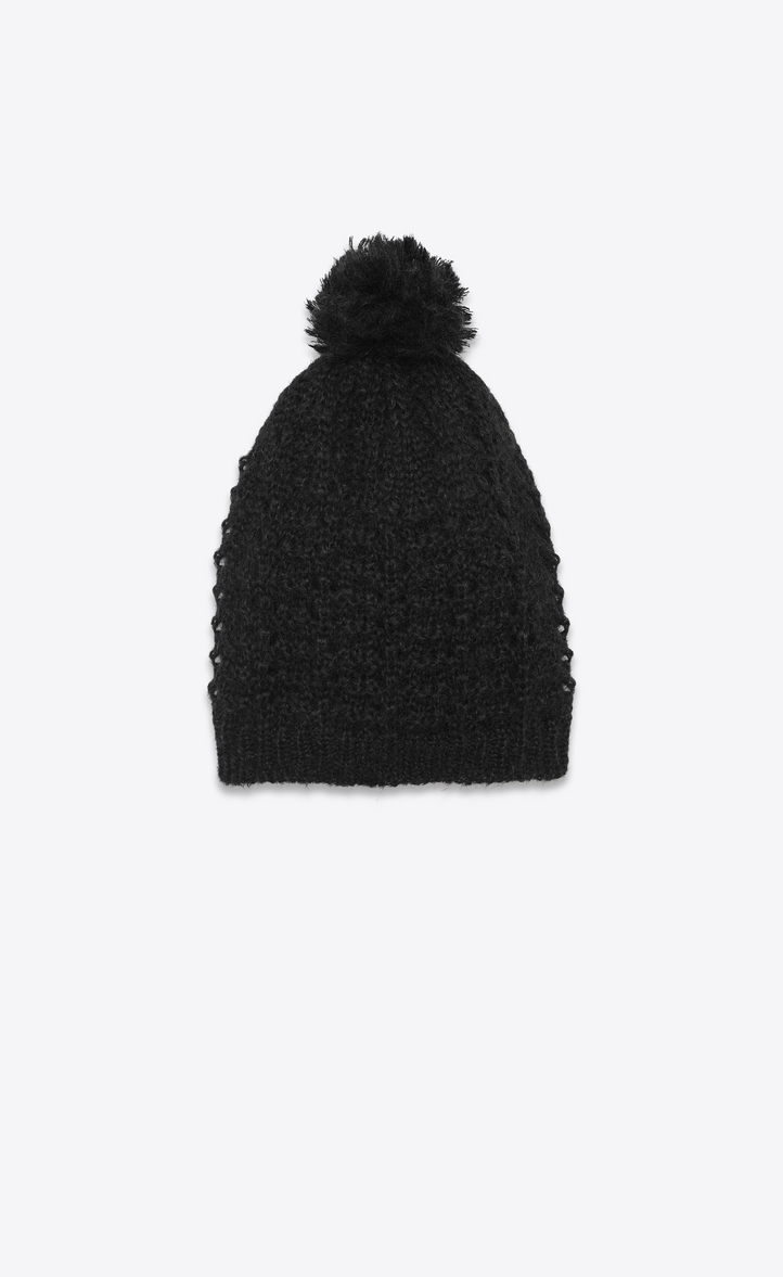 cd8df49085a Saint Laurent Classic Ski Hat In Black Mohair