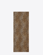 Signature Oversized Scarf in Brown and Black Wildcat Printed Wool Étamine