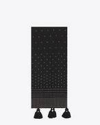 Écharpes à pompons oversize en laine noire et clous argentés