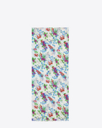 Écharpe oversize en étamine de laine à imprimé floral multicolore