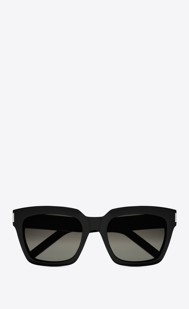 SAINT LAURENT BOLD Woman BOLD 1 Sunglasses in Shiny Black Acetate with Grey Gradient Lenses a_V4