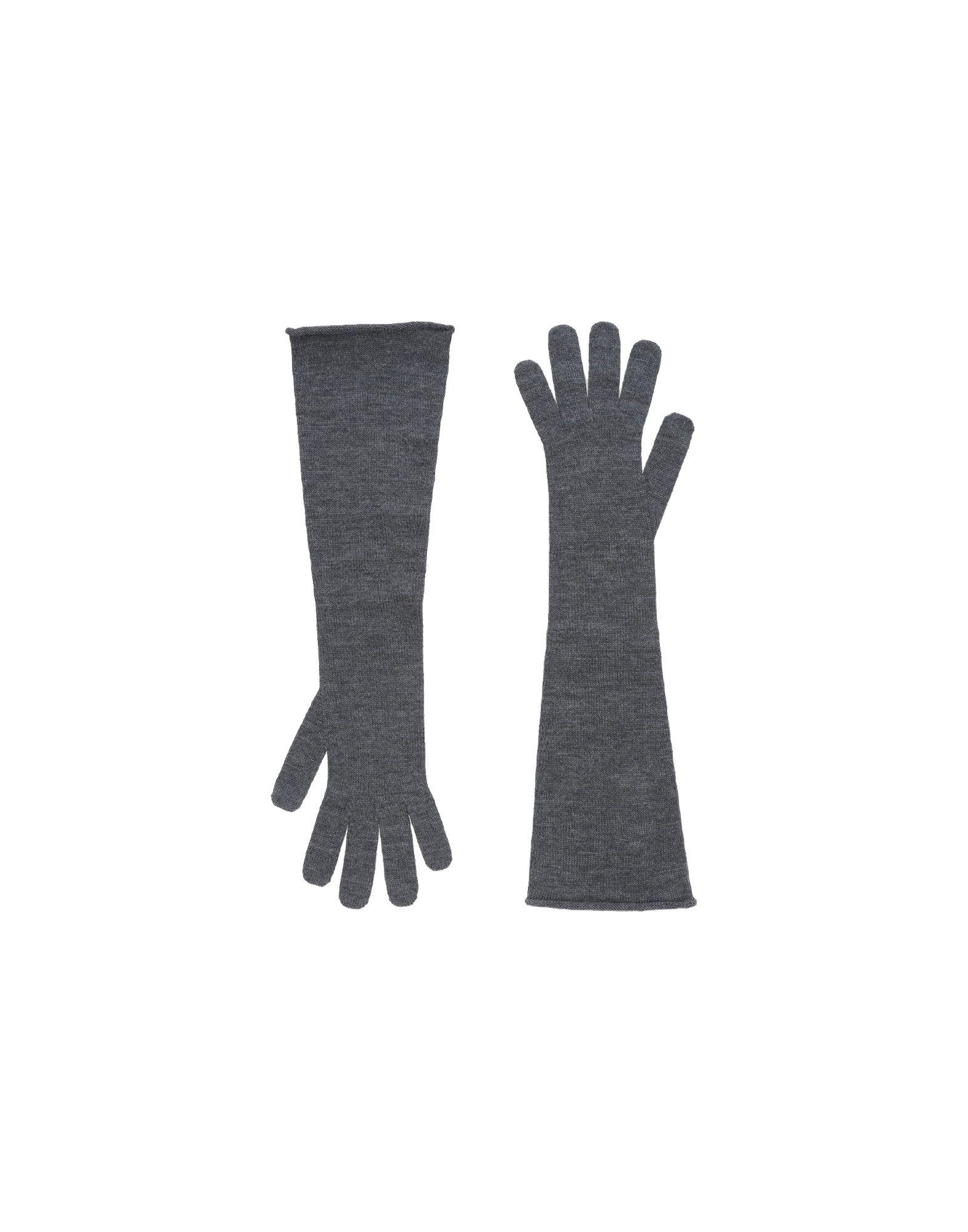 《セール開催中》ERIKA CAVALLINI レディース 手袋 グレー one size バージンウール 100%