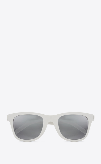 SAINT LAURENT CLASSIC E Classic SL 51 SURF Sunglasses in Shiny Ivory Acetate with Silver Lenses a_V4