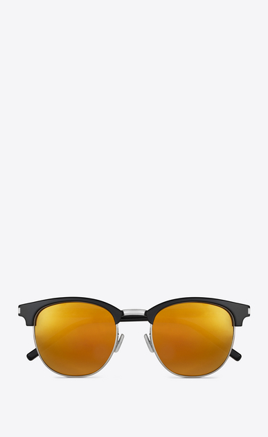SAINT LAURENT CLASSIC E Classic SL 108 Sunglasses in Shiny Black Acetate with Gold Mirrored Lenses a_V4