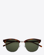 SAINT LAURENT CLASSIC E Classic SL 108 Sunglasses in Shiny Light Havana Acetate with Green Lenses f