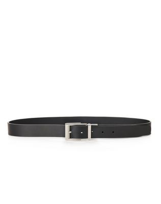 LANVIN Belt U 30mm reversible and adjustable belt in smooth calfskin F