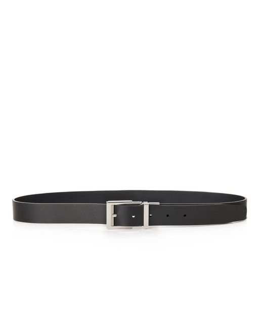 lanvin 30mm reversible and adjustable belt in smooth calfskin men