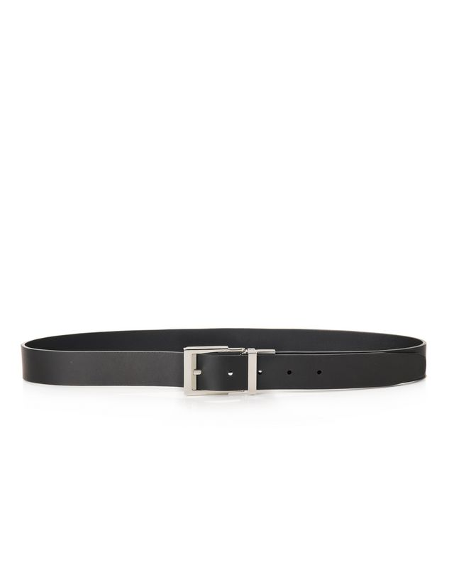 LANVIN 30mm reversible and adjustable belt in smooth calfskin Belt U f