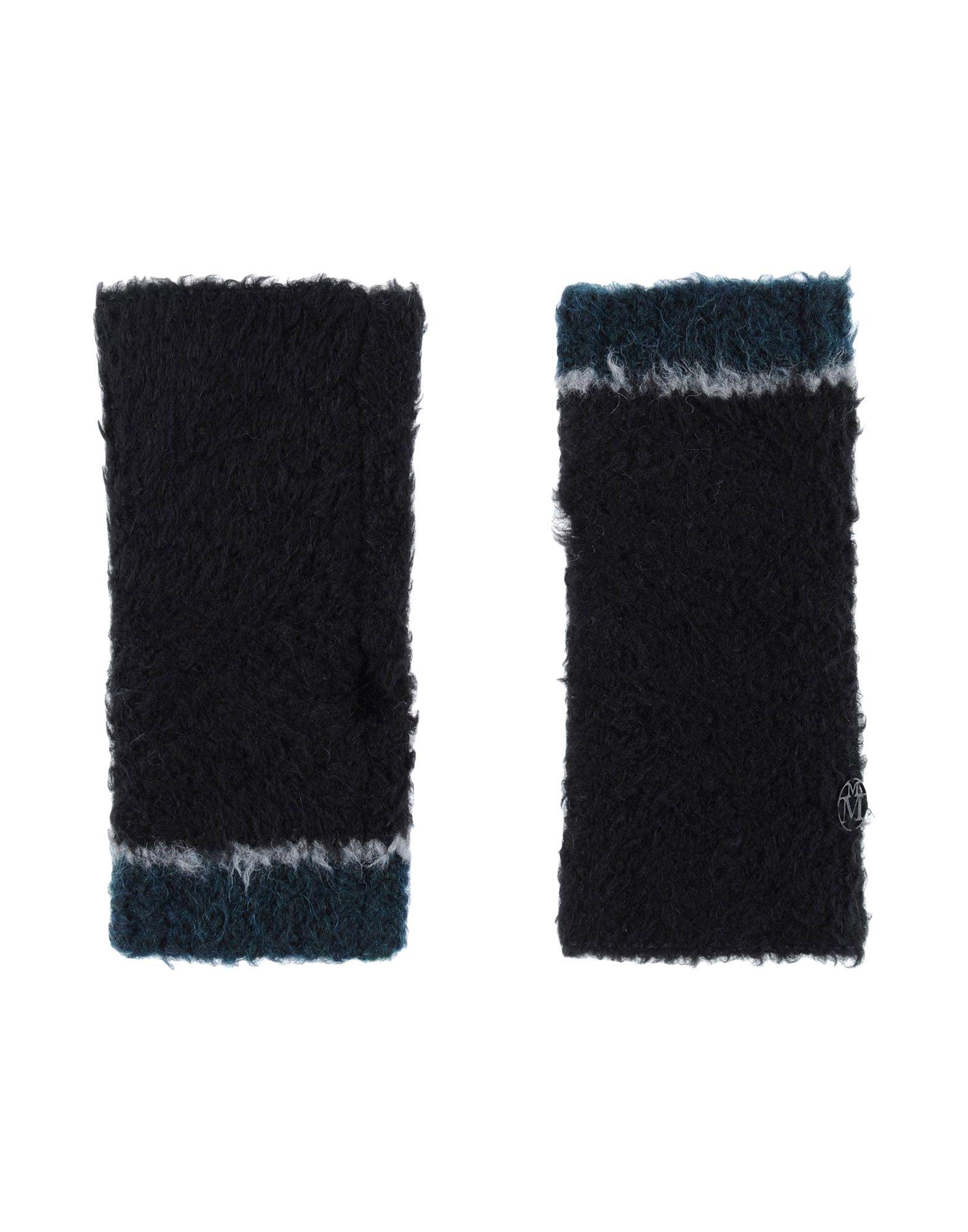 MAISON MICHEL Damen Handschuhe Farbe Schwarz Größe 1 - broschei