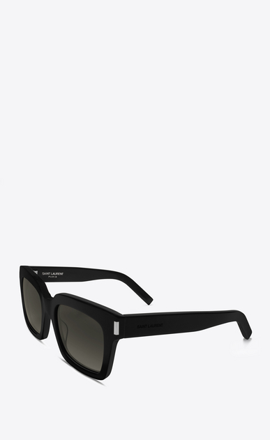SAINT LAURENT BOLD D bold 1 sunglasses in shiny black acetate with grey gradient lenses b_V4