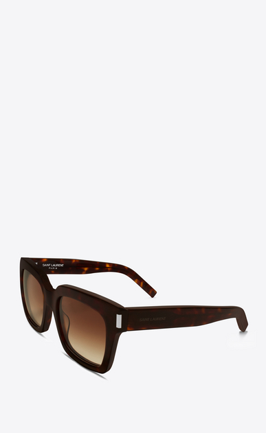 SAINT LAURENT BOLD D bold 1 sunglasses in shiny dark havana acetate with brown gradient lenses b_V4