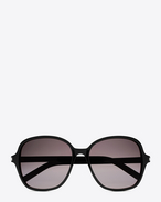 SAINT LAURENT Sunglasses D classic 8 sunglasses in shiny black acetate with grey gradient lenses f