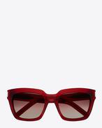 SAINT LAURENT Sunglasses D bold 1/f sunglasses in shiny transparent burgundy acetate with burgundy gradient lenses f