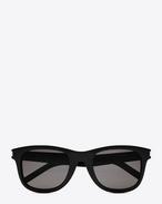 SAINT LAURENT Sunglasses E classic 51/f sunglasses in shiny black acetate with smoke lenses f