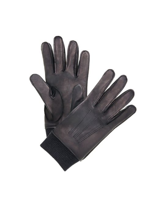 lanvin smooth leather gloves  men