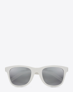 SAINT LAURENT Sunglasses E Classic SL 51/F SURF Sunglasses in Shiny Ivory Acetate with Silver Lenses f